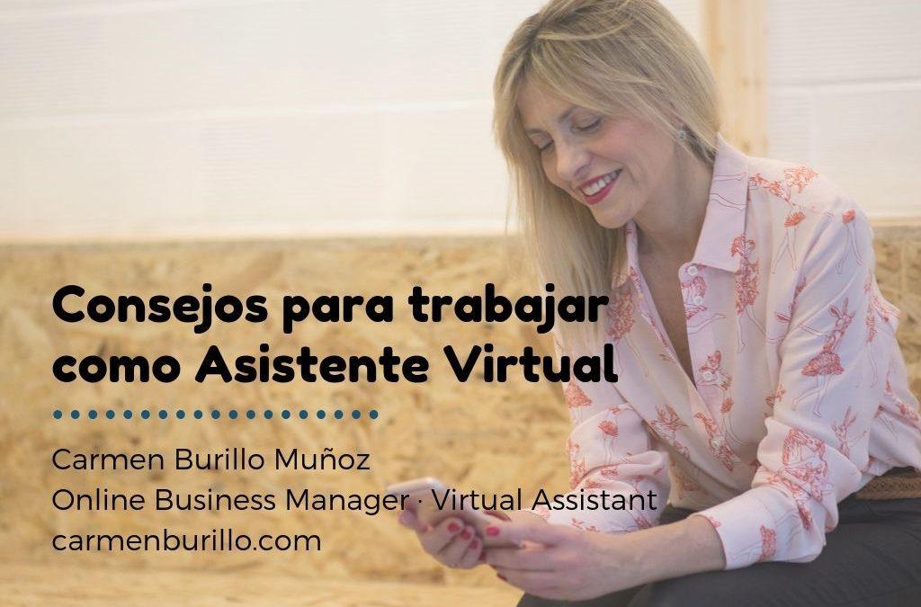 Consejos para trabajar como Asistente Virtual